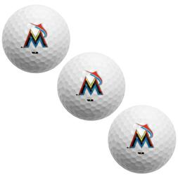 MIAMI MARLINS PACK OF 3 LOGO GOLF BALLS BRAND NEW WINCRAFT