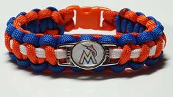 Miami Marlins Paracord Bracelet or Lanyard or Deluxe Key Cha