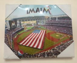 Miami Marlins Park MLB Stadium Photo On Canvas Inaugural Day