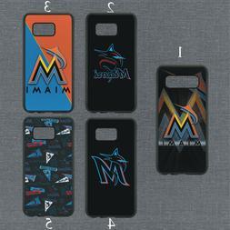 Miami Marlins Phone Case For Samsung Galaxy S20 S10 S9 S8 No