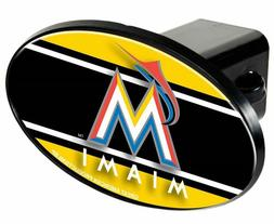 Miami Marlins Plastic Trailer Hitch Cover - Oval  NFL Truck