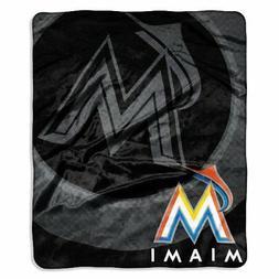 Northwest Company Miami Marlins Plush Drop Down Throw Blanke