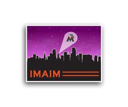Miami Marlins Poster City Skyline Art Print Man Cave Decor 1
