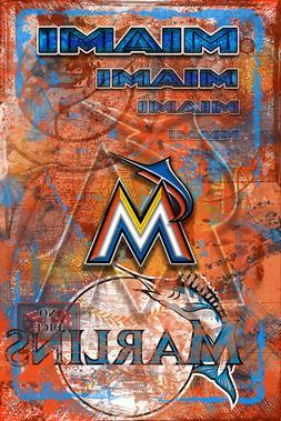 MIAMI MARLINS Poster, Miami Marlins MLB Baseball Print Free