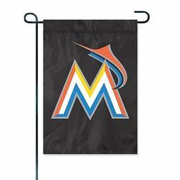 Miami Marlins Premium GARDEN Window Flag Banner Applique Emb