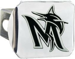 Miami Marlins Premium Solid Metal Chrome Hitch Cover Bumper
