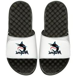 Miami Marlins ISlide Primary Logo Slide Sandals - White