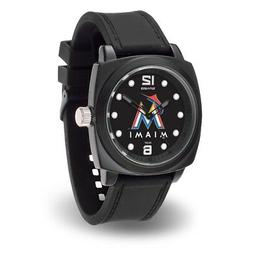 Miami Marlins Prompt Watch with Team Color and Logo