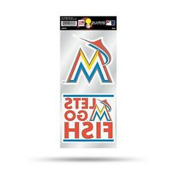 Miami Marlins PV Double UP 2-Pack Decal Sheet Sticker Auto H