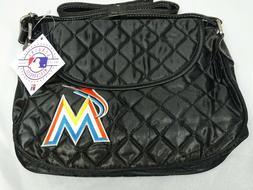 Miami Marlins Quilted Saddlebag Purse Baseball Fan Genuine M