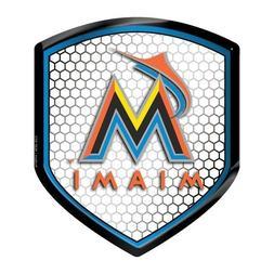 Miami Marlins Reflector Decal MLB Auto Shield Team Logo Car