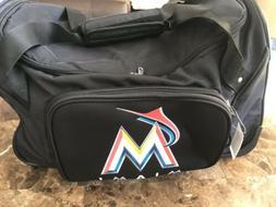 "Miami Marlins Rolling Duffle Bag MLB  Luggable 20"" X 11"""