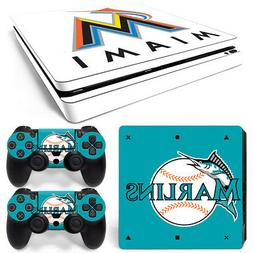 Miami Marlins Skin Sticker for PlayStation 4 Slim Ps4 MLB lo