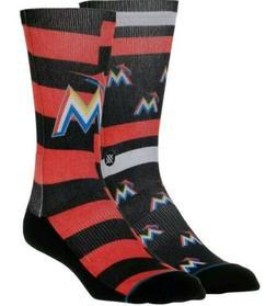 Stance Miami Marlins Splatter Mens Large Socks Crew MLB Base