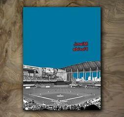 Miami Marlins Sports Gift Poster MLB Art Print Rare Hot New