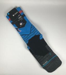 Miami Marlins Stance Diamond Pro Alternate Blue Crew Socks L