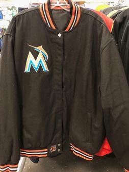 Miami Marlins Varsity Jacket Reversible Wool Coat JH Design