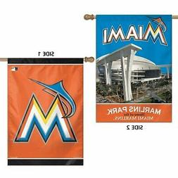 Miami Marlins WC Premium 2-sided 28x40 Banner Outdoor House