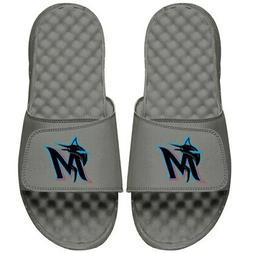 Miami Marlins ISlide Youth Alternate Logo Slide Sandals - Gr