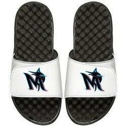 Miami Marlins ISlide Youth Alternate Logo Slide Sandals - Wh