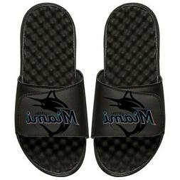 Miami Marlins ISlide Youth MLB Tonal Pop Slide Sandals - Bla