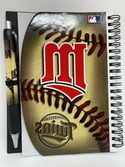 Minnesota Twins,MLB, Deluxe Hardcover 5x 7-Inches Notebook A