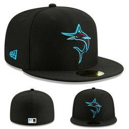New Era MLB Miami Marlins Mlb19 Black Fitted Hat Batting Pra