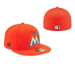 MLB New Era 59FIFTY 5950 MIAMI MARLINS Road Authentic On-Fie