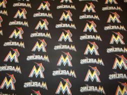 MLB Baseball Miami Marlins Handmade Window Curtain Valance 5