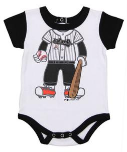 OuterStuff MLB Infant Miami Marlins Baseball Bodysuit, White