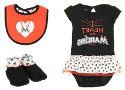 Outerstuff MLB Infant Miami Marlins Play With Heart Creeper,