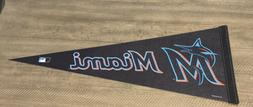 "MLB Miami Marlins Baseball Large Pennant 12"" X 30"" *NEW* Fla"