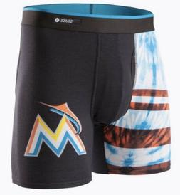 STANCE MLB MIAMI MARLINS Basilone Boxer Brief TIE DYE BLACK