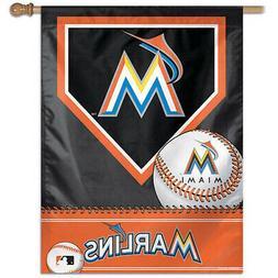 "MLB Miami Marlins Black-Orange 27"" x 37"" Vertical Banner"