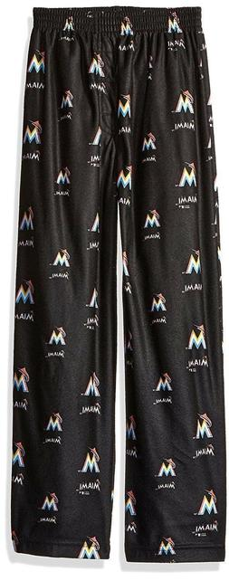 MLB Miami Marlins Boys Medium 10/12 Sleepwear All Over Print
