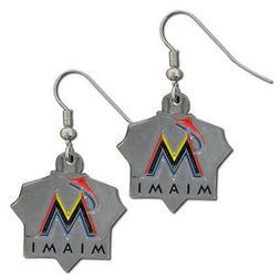 MLB Miami Marlins Classic Dangle Earrings Set J Hook Triangl