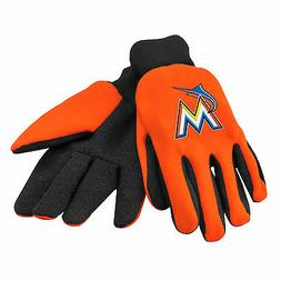 MLB Miami Marlins Colored Palm Utility Gloves by Forever Col