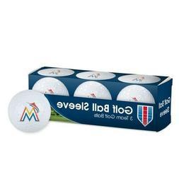 MLB MIAMI MARLINS GOLF BALLS PACK OF THREE 3 NEW