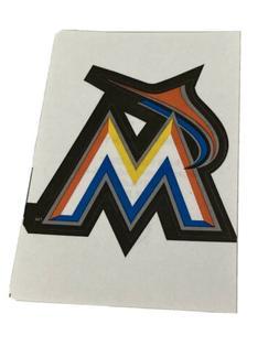 MLB Miami Marlins Logo Baseball Indoor Decal Sticker Free Sh