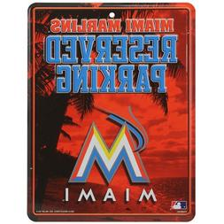 MLB Miami Marlins Metal Parking Sign