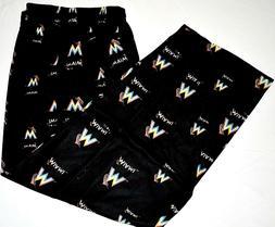 MLB Miami Marlins Sleepwear Print Pant, Small , Free Shippin
