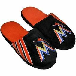Football Fanatics MLB Miami Marlins Team Stripe Logo Slipper