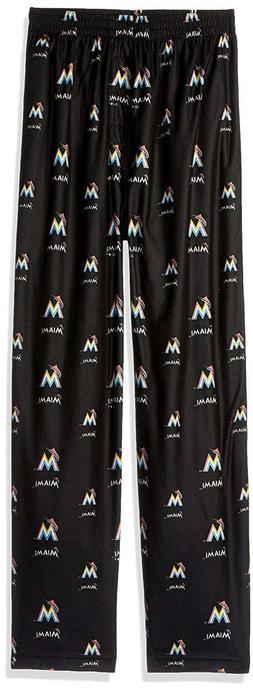 MLB Youth Boys 8-20 Marlins Sleepwear All Over Print Pant, M