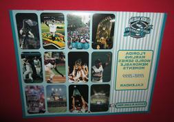 NEW-FLORIDA MIAMI MARLINS 1998-1999 CALENDAR-1997 WORLD SERI