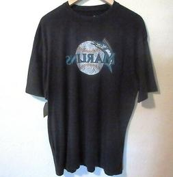 NEW Miami Marlins Mens T Shirt XL Black