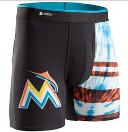 NEW STANCE MIAMI MARLINS BASILONE BOXERS UNDERWEAR BRIEFS FL