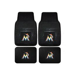 New MLB Miami Marlins Car Truck Front Back Rubber All Weathe