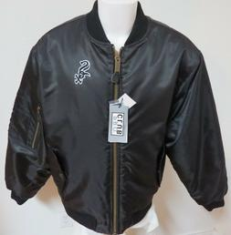 NEW Sz S-3XL Black Full Zip Up MLB Quilted Lining MEN Polyes