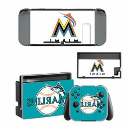 nintendo switch miami marlins vinyl skin sticker