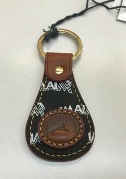 NWT Dooney & Bourke MLB Miami Marlins Leather Keyring Key Ch